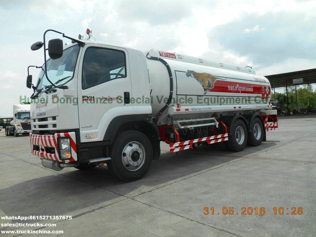 Véhicule de transport de pétrole de l'alliage d'aluminium ISUZU d'ISUZU 22000L
