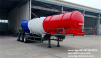 Sulphuric Acid Tanker Trailer V shape 18500L for Zambia,Tanzania