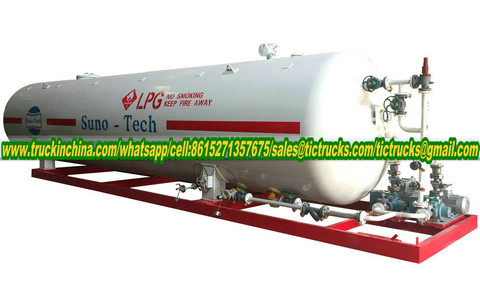 LPG skid mounted station Cooking Gas Plant for LPG Cylinder With LPG Refilling Scales 40000Liters