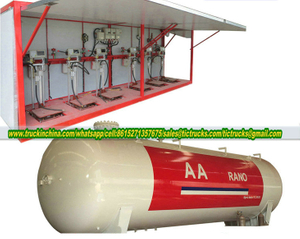 20MT Skid Mounted LPG Filling Stations 50000Liters 6Sets LPG Filling Weight Scales