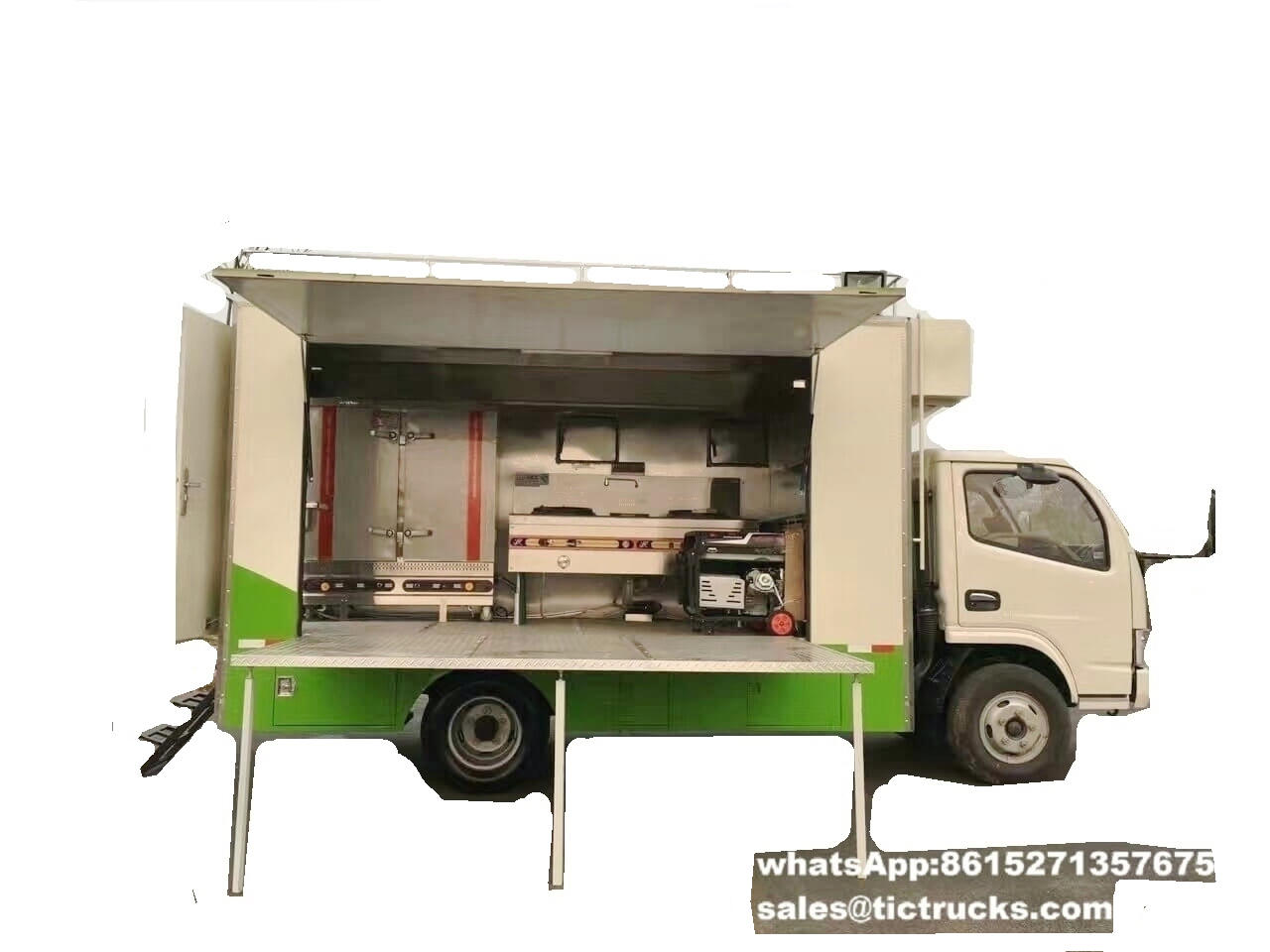 dongfeng Mobile food cooking truck