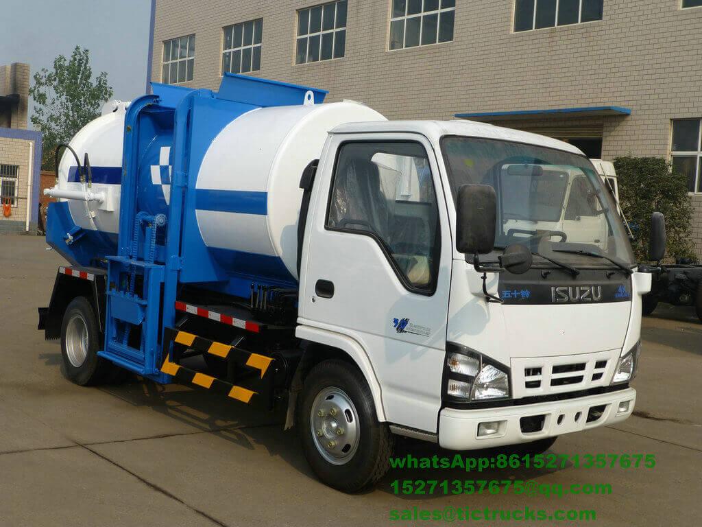 camion -3000L-ISUZU.jpg de collecte des déchets de nourriture