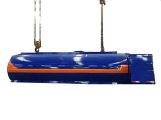 9m3 Hot Asphalt Tank for Tanker Lorry Upper Body