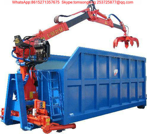 Hooklift Loader Bin with Fresh Garlic Grap Loading Crane