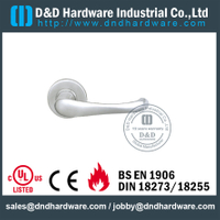 Stainless Steel Designer Cast Lever Handle on Rose for Metal Doors -DDSH005