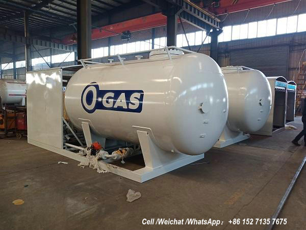 10cbm LPG Tank skid stations customized for OVH Gas Energy