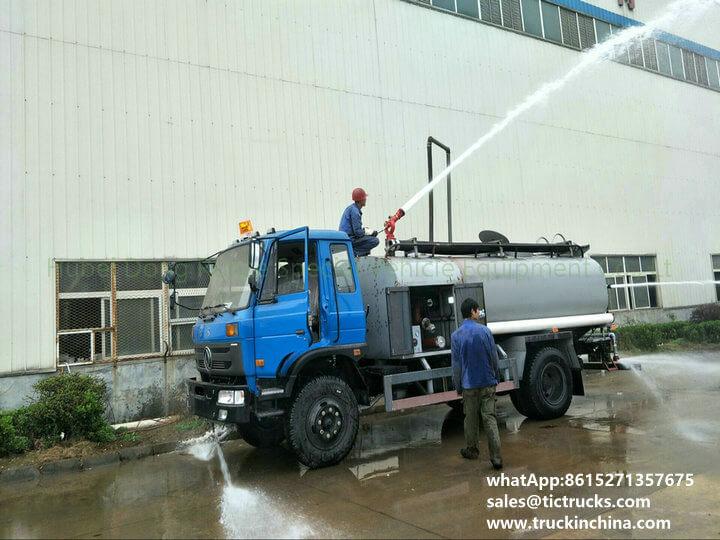 fire pump water 1200Gallon-33cbm water tank lorry truck