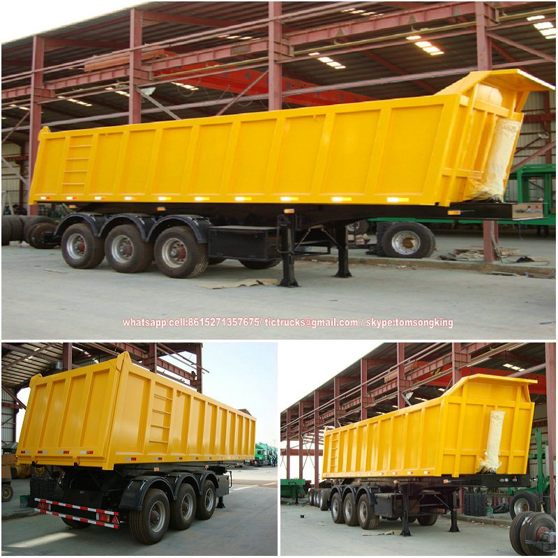 3 axle hydraulic dumper trailer 50 tons Features