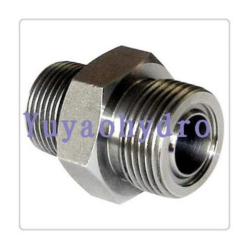 Nipple union orfs hydraulic adapters sae j