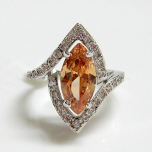 Marquise Champagne CZ Ring