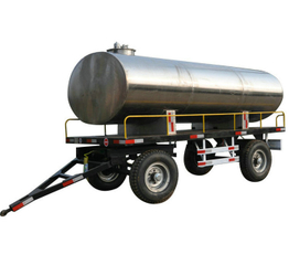 Stainless Steel Tank Full Trailer Dolly 5000Liters