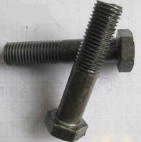 ASTM A193 B7 A325 High Strength Black Hexagon Head Bolt , Steel Structural bolting
