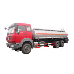 Beiben 6x6 Offroad Liquid Tank Truck For Petroleum Oil / Gasoline / Petrol Transport