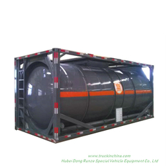 20FT ISOTank Container For Sodium Hypochlorite Solution 18KL -21KL HCL , NaOH (max 50%), NaCLO (max 10%), H2SO4(60%,98%) ,HF