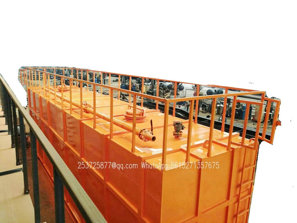 Customised skid mounted 60-100cbm Hydrochloric acid storage tank