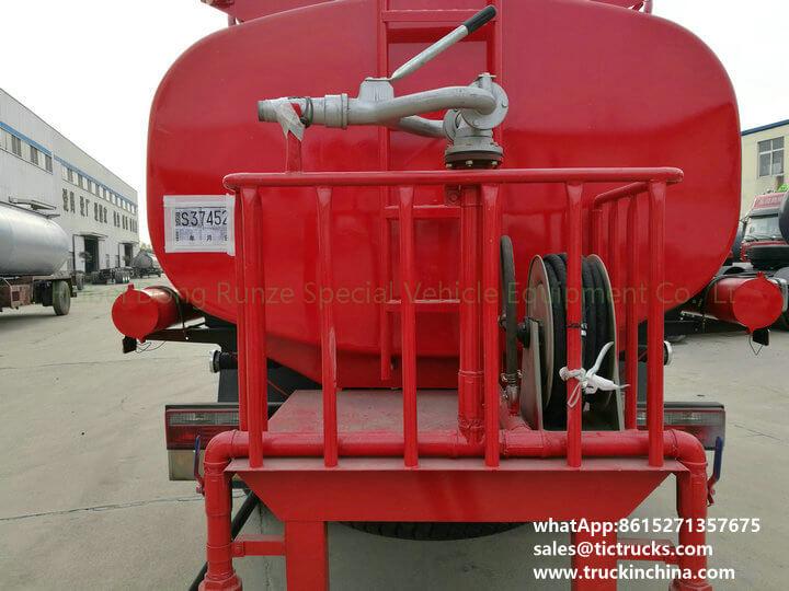 fire pump water 1200Gallon-09cbm water tank lorry truck