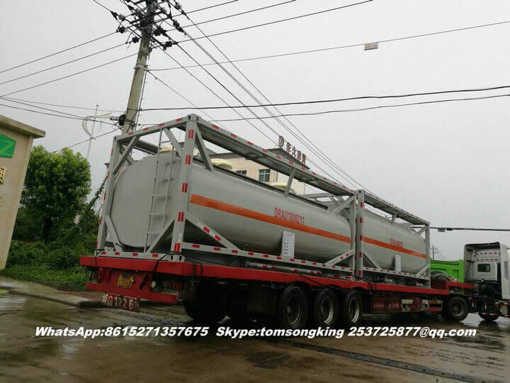 Steel lined PE ISO tank -73