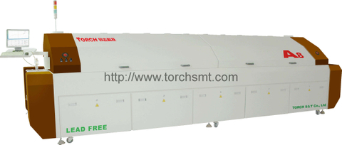 Large-size lead-free Reflow Oven with Eight heating-zones A8