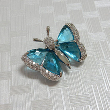 Blue Butterfly Bridal Brooch