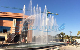 Morocco Marrakech Manara mall laser water screen music dancing fountain
