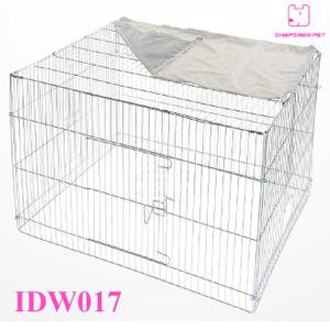Wire Dog Cage Metal Pet Run Cage with Cover