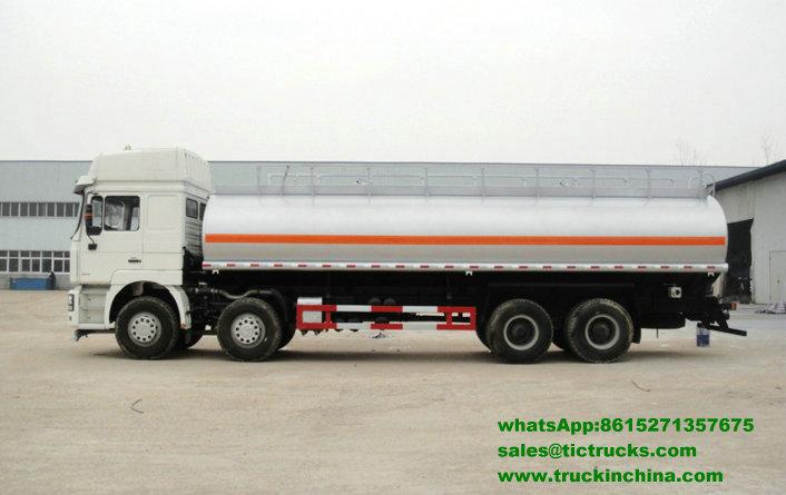 Camion de pétrole lourd de Shacman, acier inoxydable de F3000 8x4
