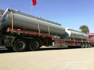 2 sets Carbon steel Tank body inner lined 16mm PE, 16500L for chemical truck lorry export to Vietnam