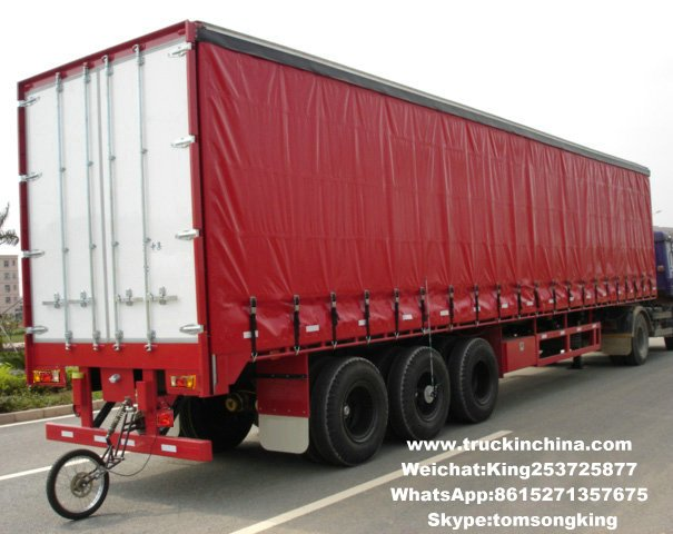 3 axles Curtain Side Trailer Features