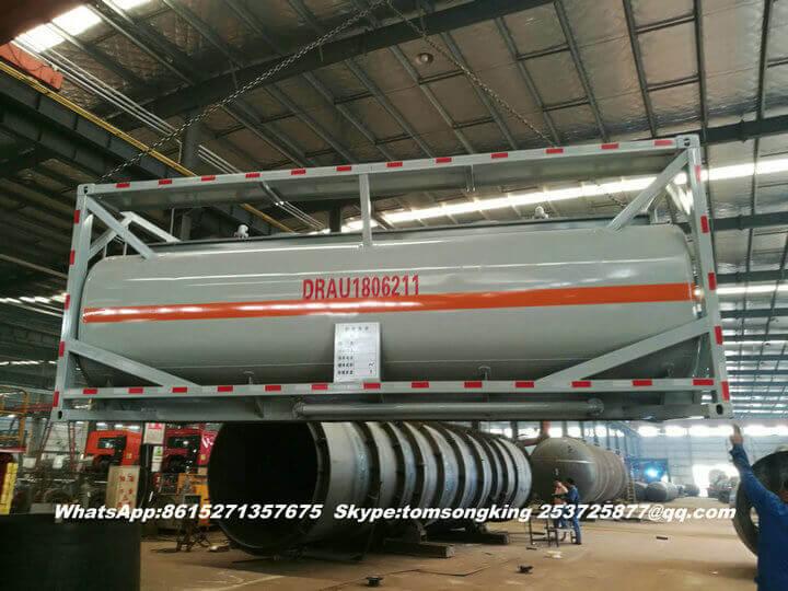 Steel lined PE ISO tank -95