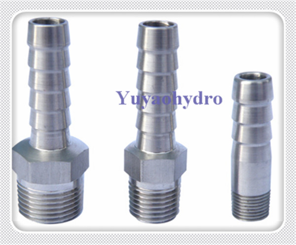 Stainless steel hose fuel line fittings