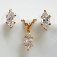 Marquise Cut Solitaire Fashion Jewelry Set