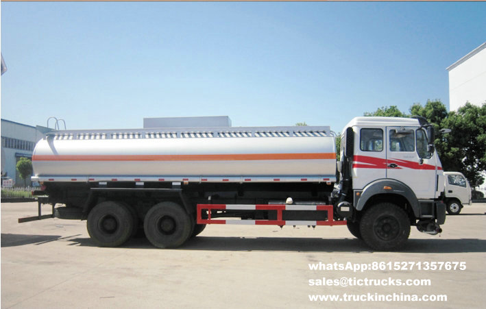 Beiben 2527 gasoline delivery vehicles 6x4 22000L
