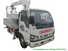 ISUZU Crane Truck With Bucket Lift for Electric Companies