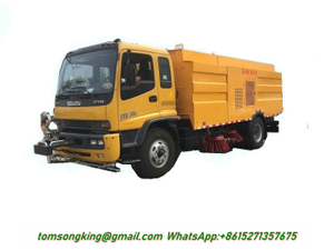 ISUZU FTR Road Sweeper Truck 6 Cbm Garbage +7 Cbm Water Stainless Steel 304