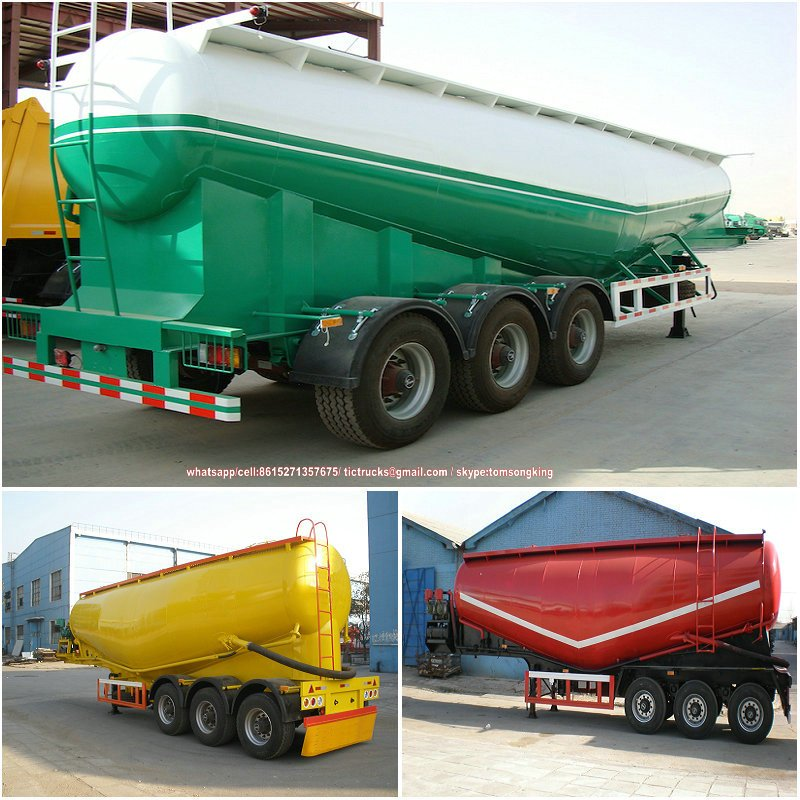 3 axle bulk cement trailer Features 40000 liters/70000 liters