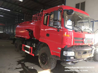 Dongfeng off Road 6x6 All Wheel Drive Water Truck with Fire Pump