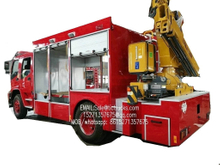 ISUZU FVR Emergency Rescue Truck monuted with XCMG SQ5ZK2 5T crane Customizing