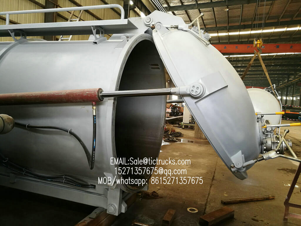Hook Mounted Vaccum Tank Body Customizing Vacuum Unit for Hook Truck