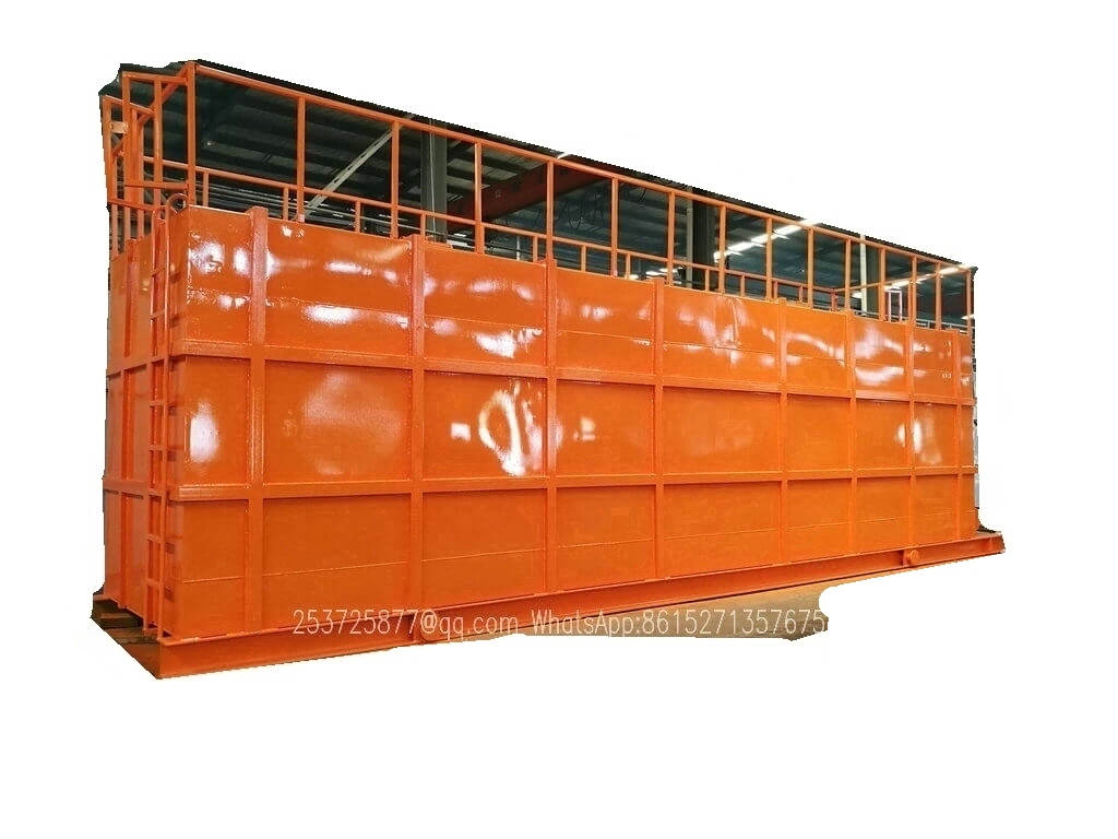 8sets skid mounted big Hydrochloric acid storage tank export price