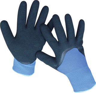 SUPER NITRILE FOAM GLOVES PVC DOTTED