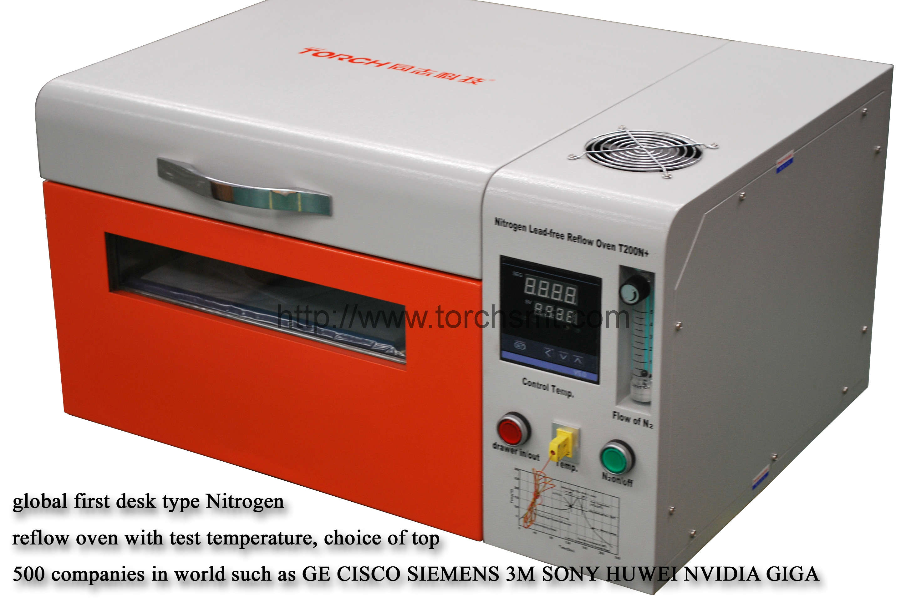Lead free reflow oven with temperature testing T200N+