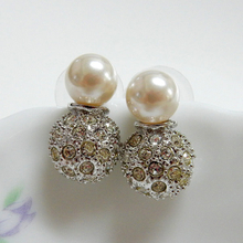 Swarovski Crystals & Pearl Earrings