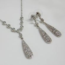 CZ Necklace and Earrings Jewelry Set