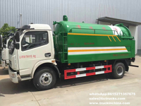 vacuum truck with high pressure jetting vacuum sewer cleaner 4000L Vacuum tank+1000L water Jetting tank