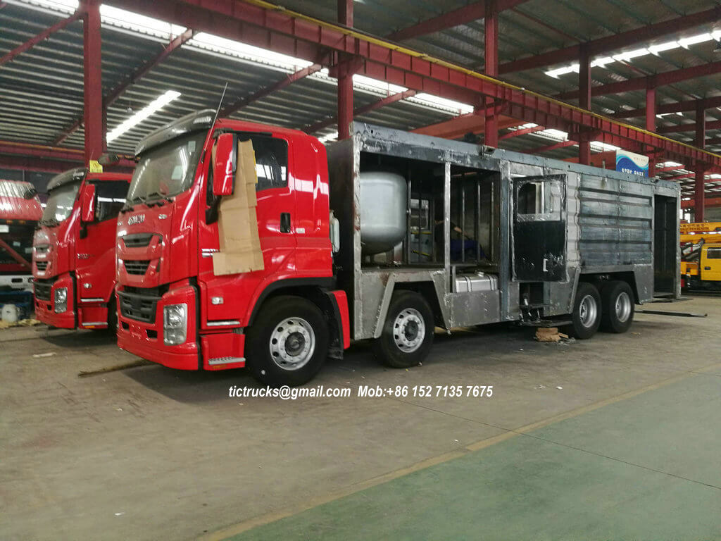 ISUZU GIGA Foam Powder Fire Truck 2 Units Sale