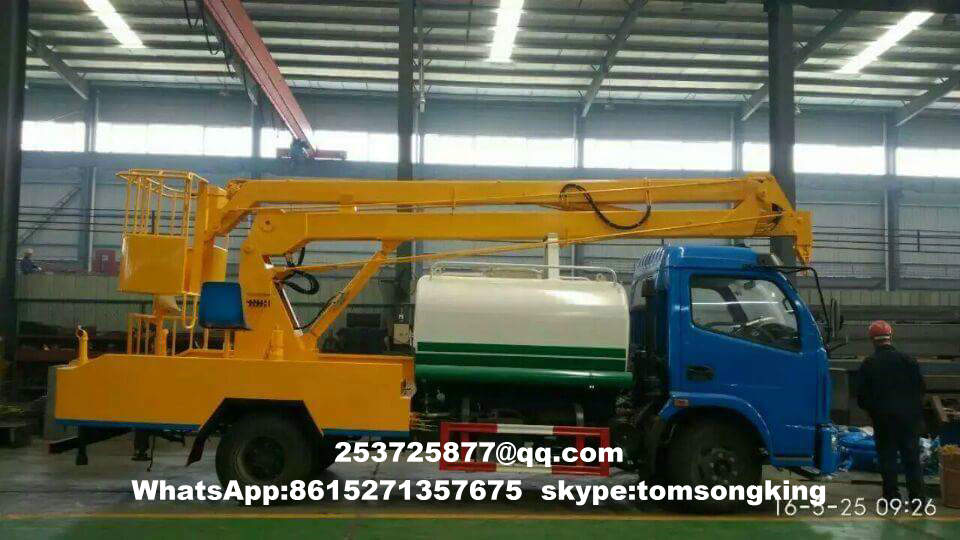 Aerial platform truck mounted water tanks for sale