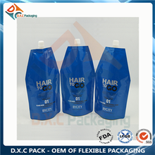 Shampoo & hair conditioner stand up shaped bag spout pouch for liquid packaging