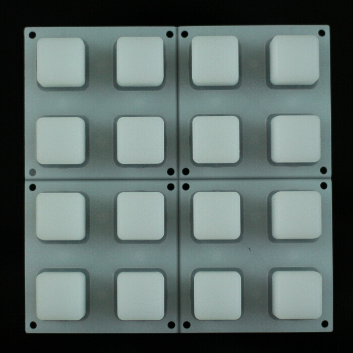4x4 Translucent Silicone Keypad From China Manufacturer