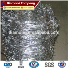 diamond PVC coated double strand double twisted barbed wire factory with 10 years