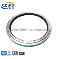 stock high precision internal gear ball slewing bearing with teeth hardened for excavator